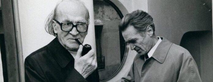 Sursa foto: Fotografie cu Mircea Eliade și Emil Cioran, realizată în 1977 la Paris de Louis Monier. / Captură Youtube